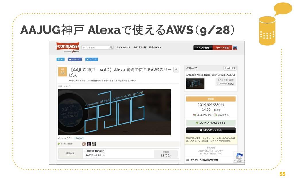 55 AAJUG神戸 Alexaで使えるAWS(9/28)