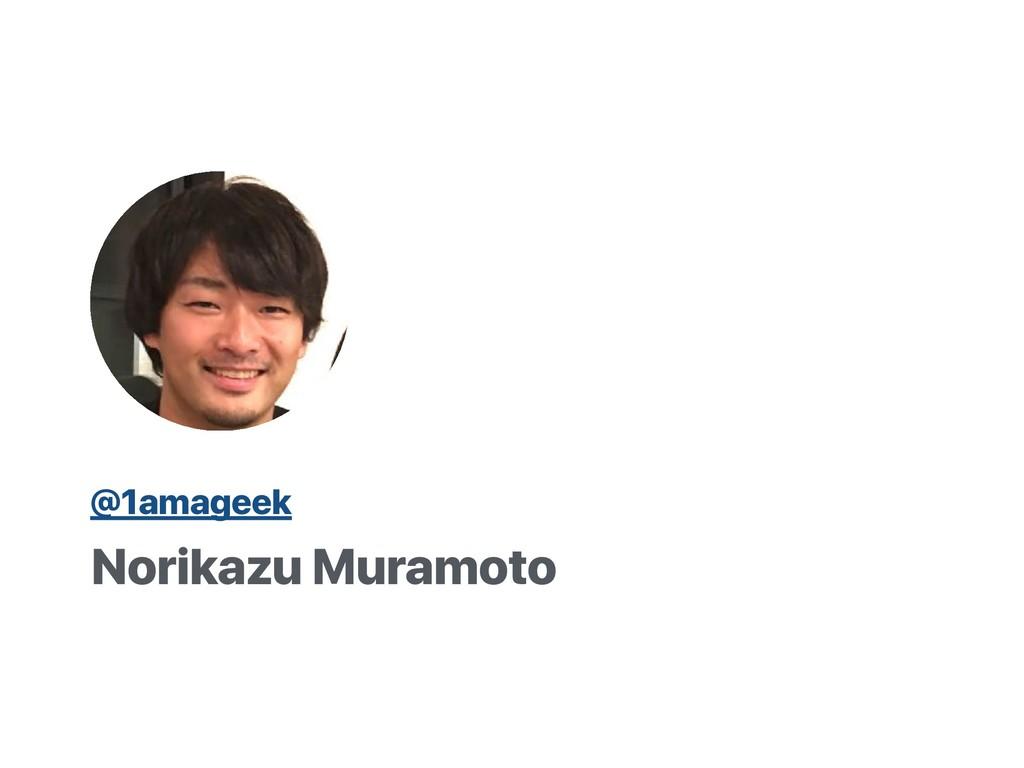 Norikazu Muramoto @1amageek