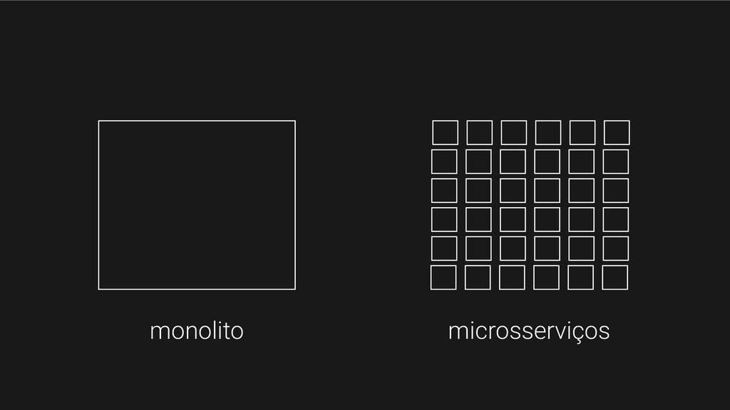 monolito microsserviços