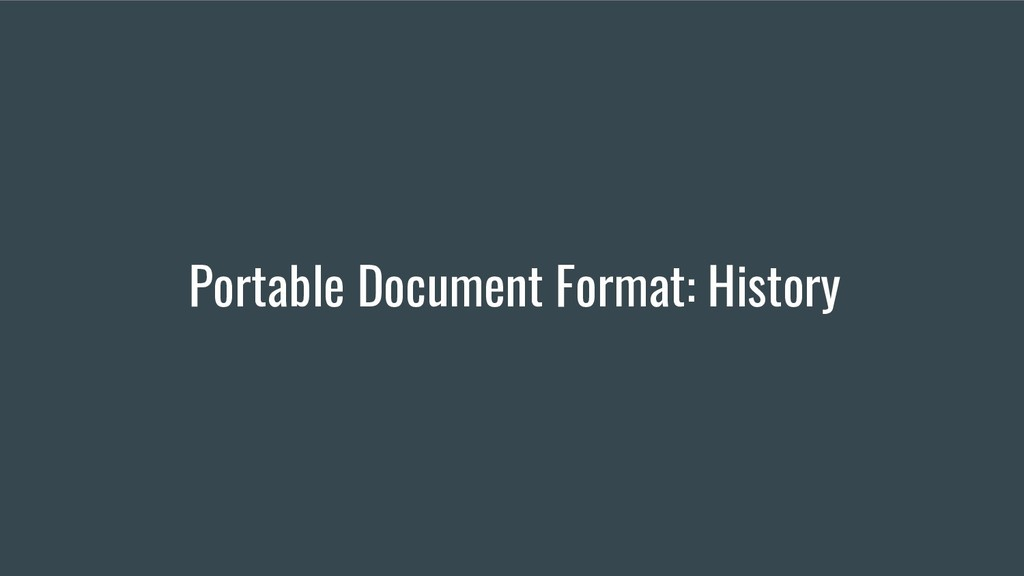 Portable Document Format: History