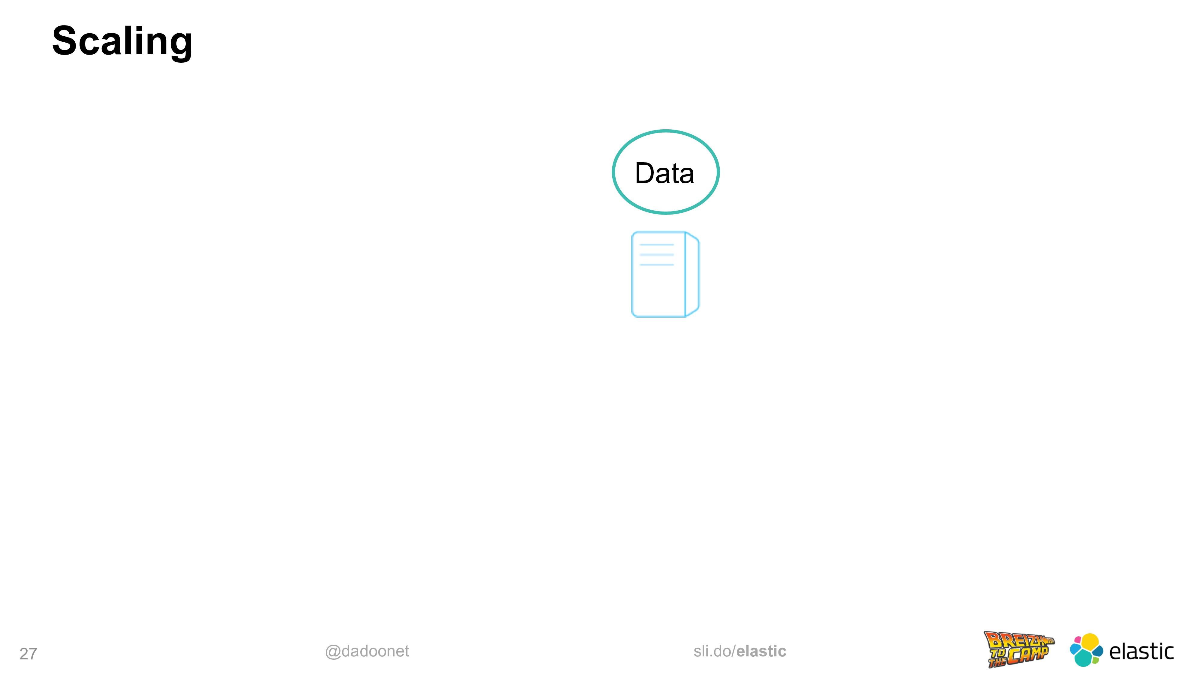 @dadoonet sli.do/elastic 27 Scaling Data