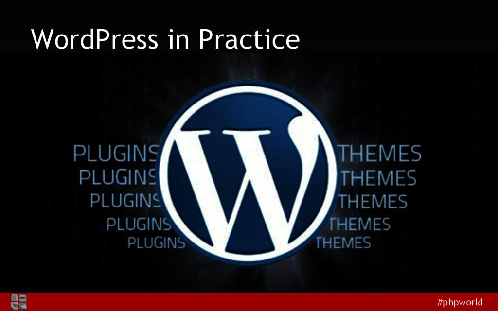 #phpworld WordPress in Practice