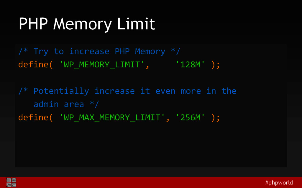 #phpworld PHP Memory Limit /* Try to increase P...