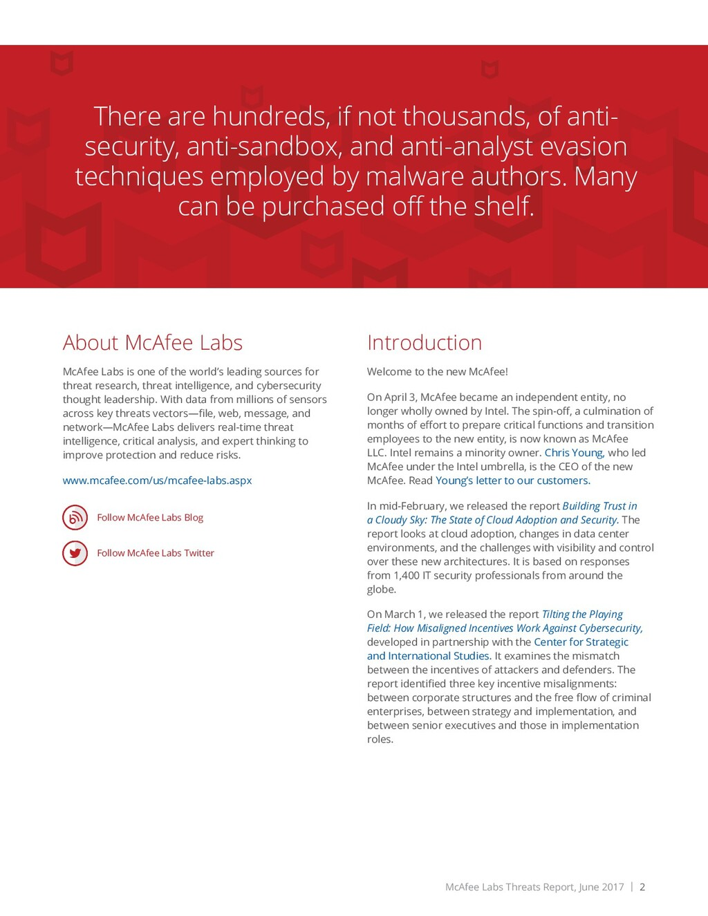 McAfee Labs Threats Report, June 2017 | 2 About...