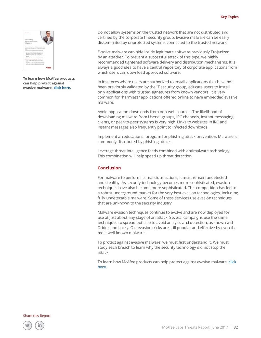 McAfee Labs Threats Report, June 2017 | 32 Shar...