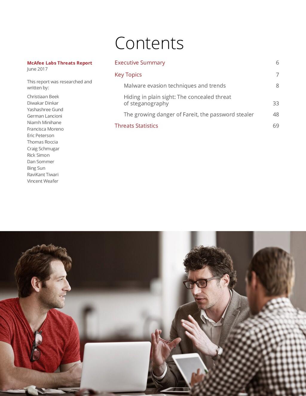 Contents Executive Summary 6 Key Topics 7 Malwa...