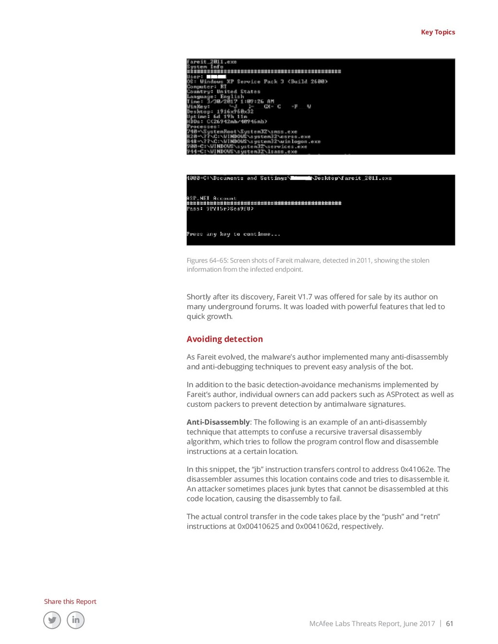 McAfee Labs Threats Report, June 2017 | 61 Shar...