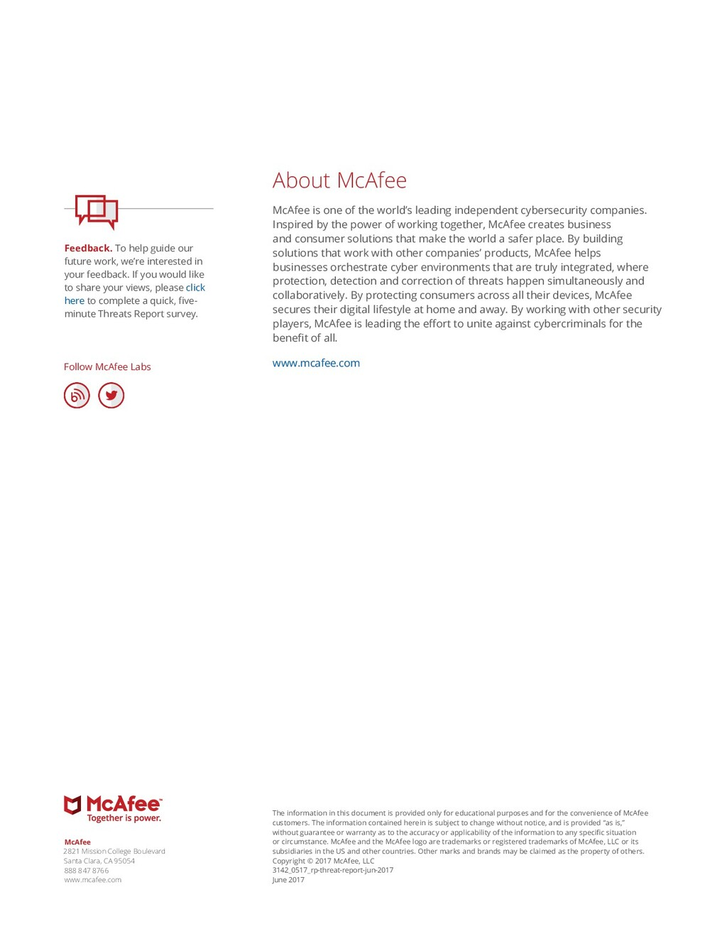 About McAfee McAfee is one of the world's leadi...