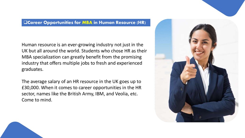 Career Opportunities for MBA in Human Resource...
