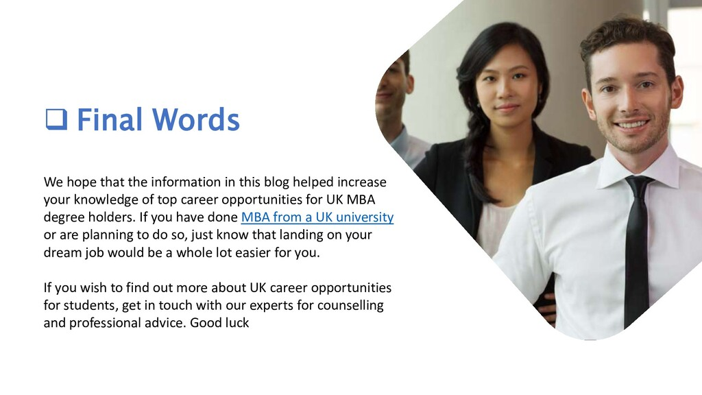  Final Words We hope that the information in t...