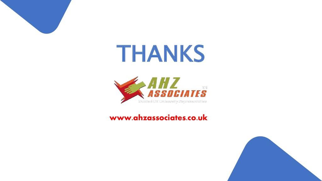 www.ahzassociates.co.uk THANKS