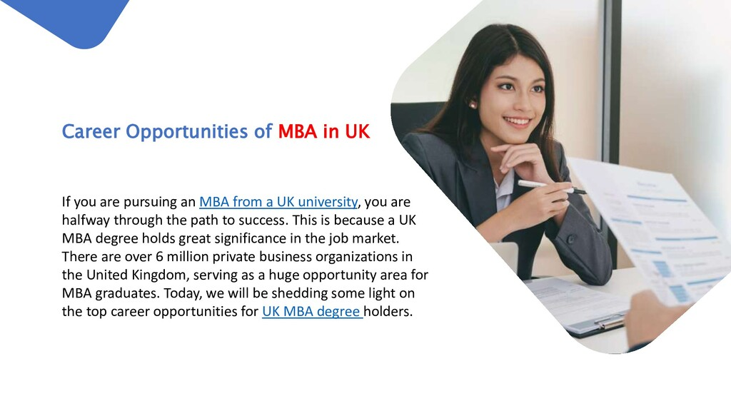 If you are pursuing an MBA from a UK university...