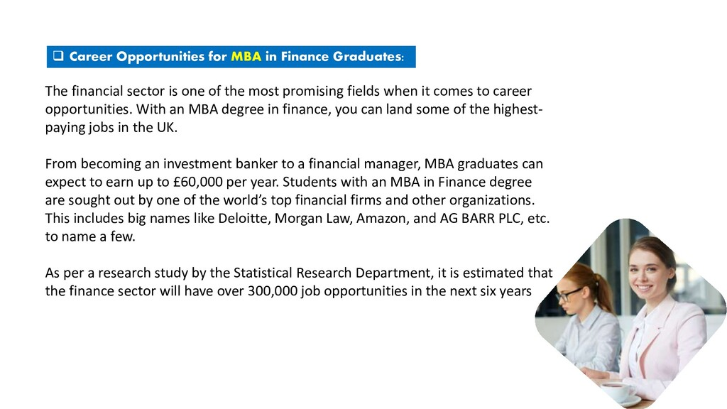  Career Opportunities for MBA in Finance Gradu...