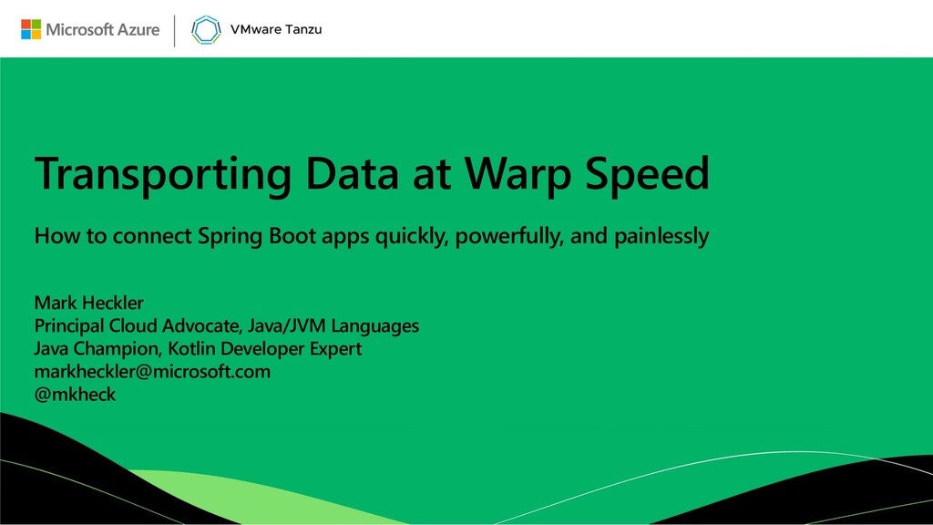 Transporting Data at Warp Speed How to connect ...