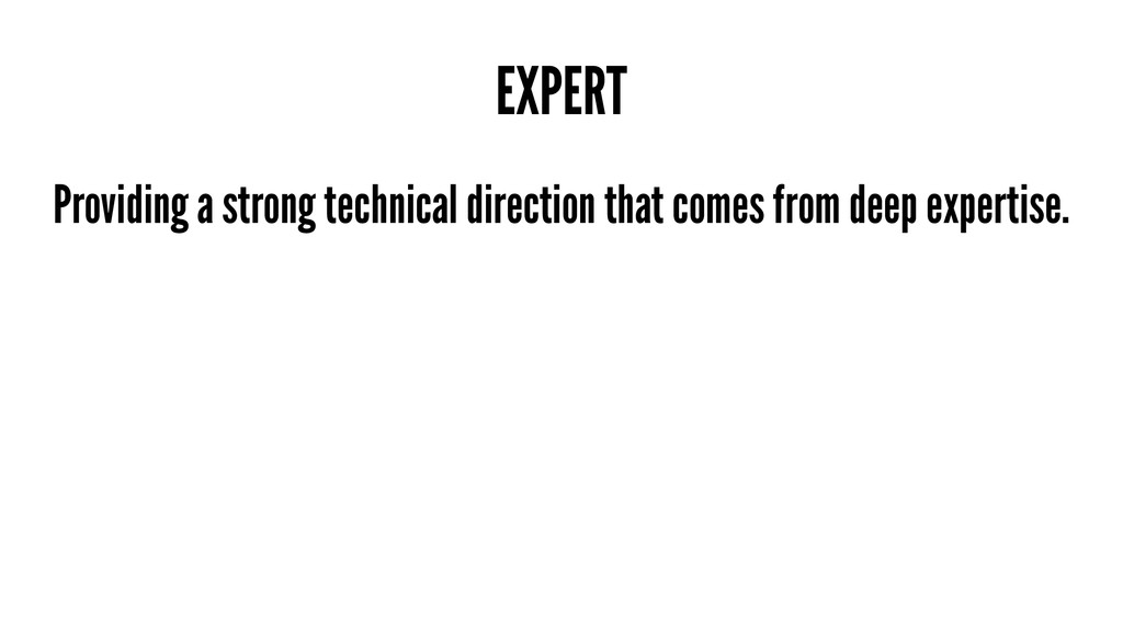 EXPERT Providing a strong technical direction t...