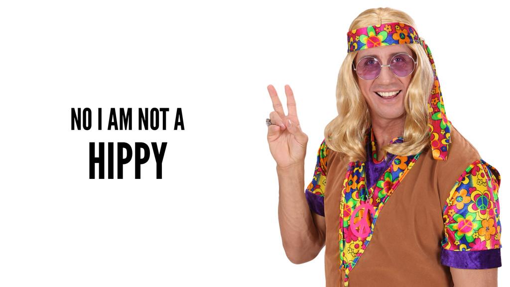 NO I AM NOT A HIPPY
