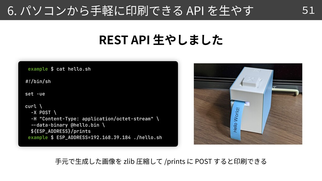 6. API 51 0 5 REST API zlib /prints POST