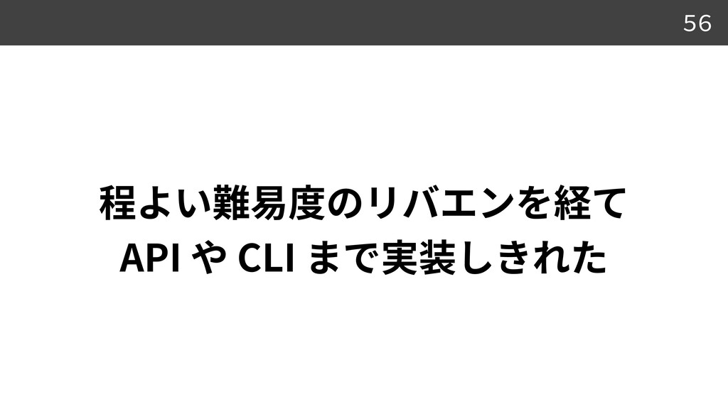API CLI 56