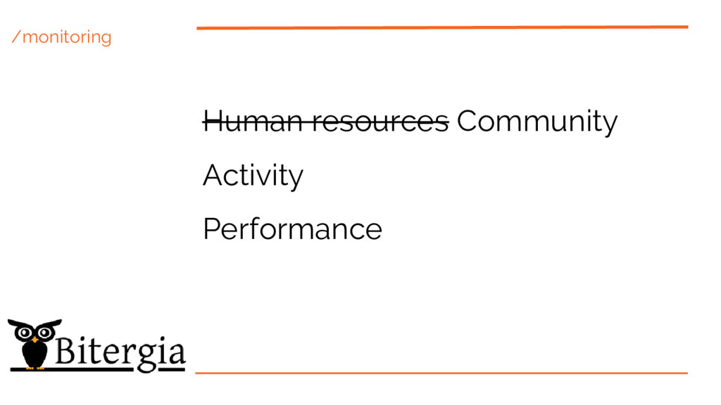 /monitoring Human resources Community Activity ...