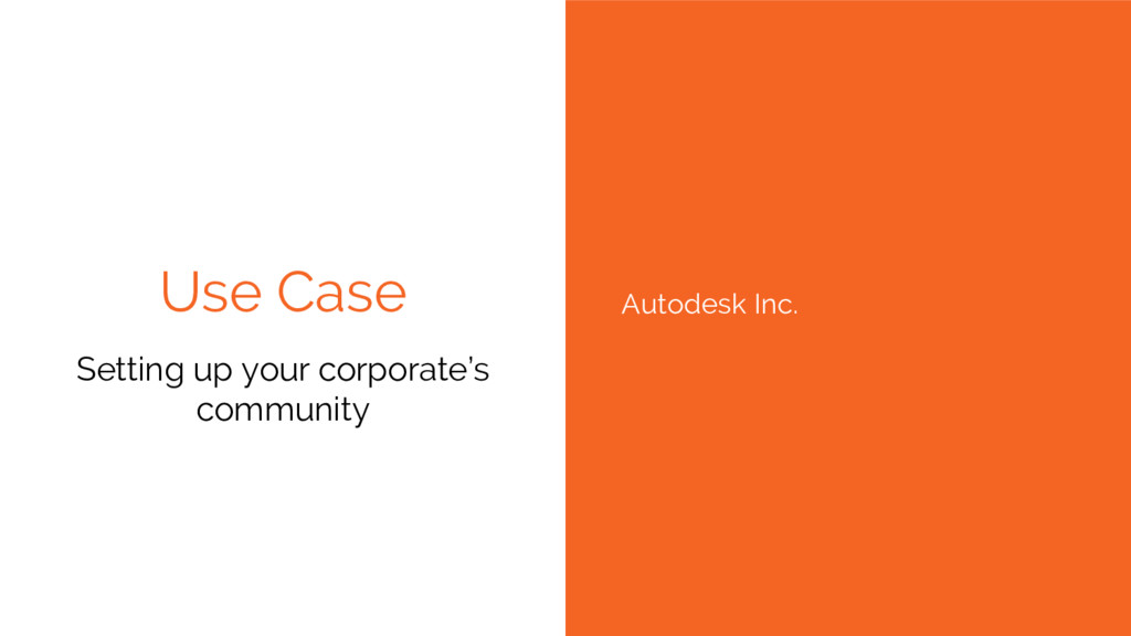 Use Case Setting up your corporate's community ...
