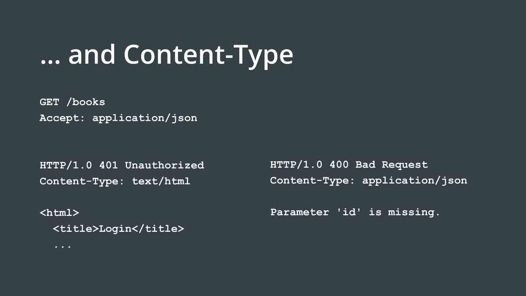 … and Content-Type HTTP/1.0 400 Bad Request Con...