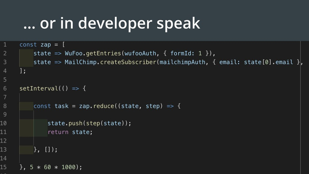 … or in developer speak
