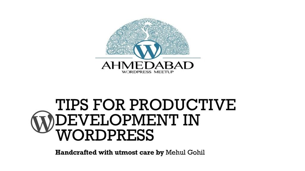 TIPS FOR PRODUCTIVE DEVELOPMENT IN WORDPRESS Ha...