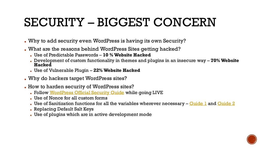 SECURITY – BIGGEST CONCERN ▪ Why to add securit...