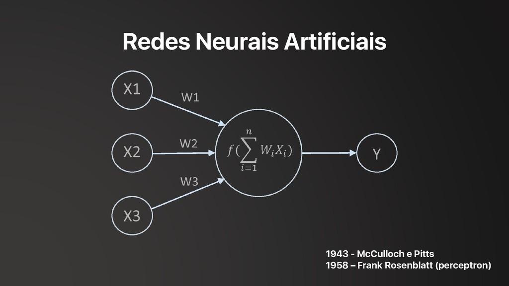 Redes Neurais Artificiais 1943 - McCulloch e Pi...