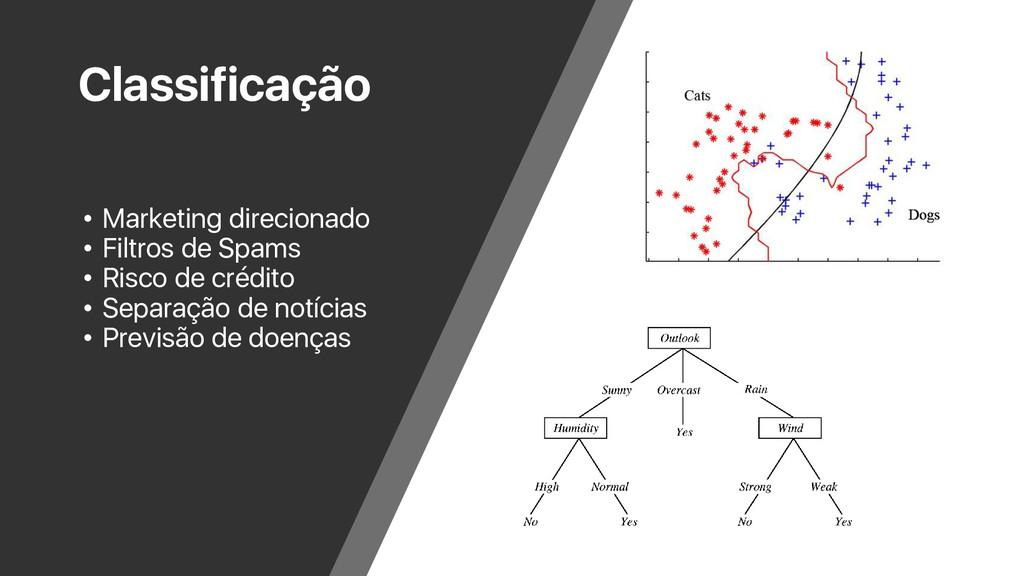 Classificação • Marketing direcionado • Filtros...