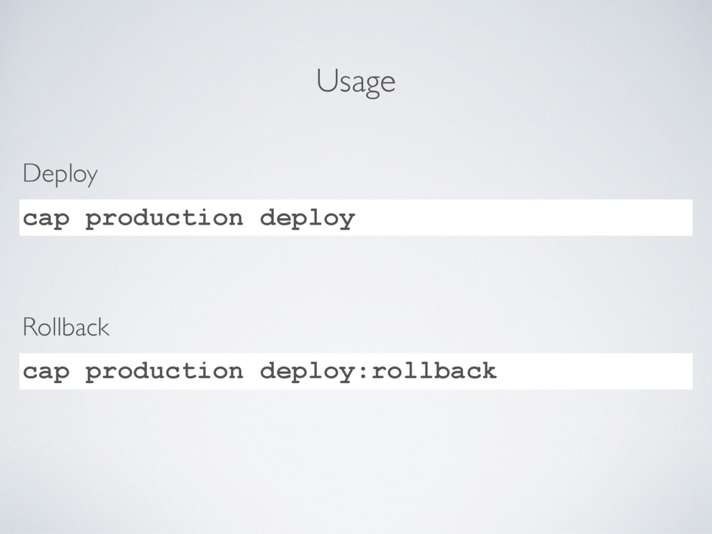 Usage cap production deploy Deploy cap producti...