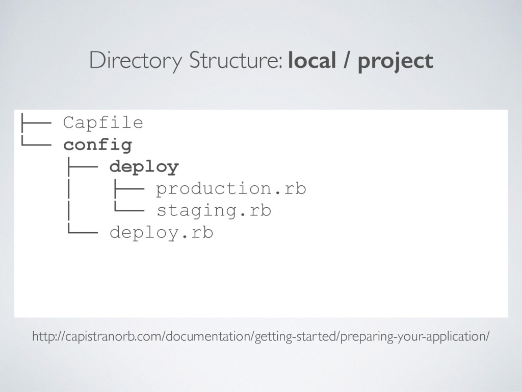 Directory Structure: local / project ├── Capfil...