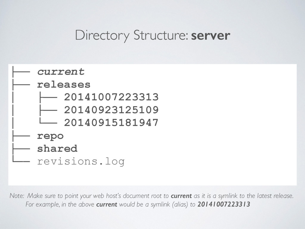 Directory Structure: server ├── current ├── rel...