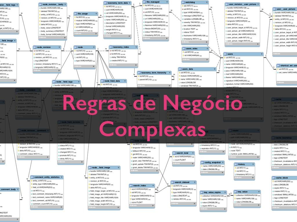 Regras de Negócio Complexas