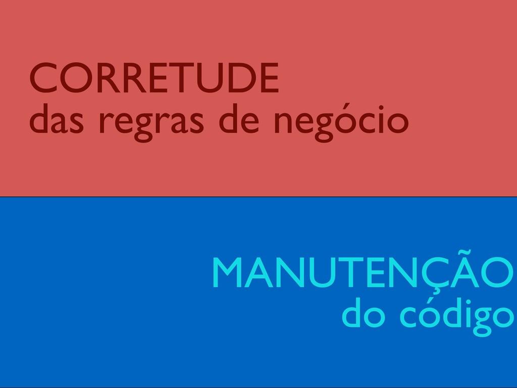 MANUTENÇÃO do código CORRETUDE  das regras de...