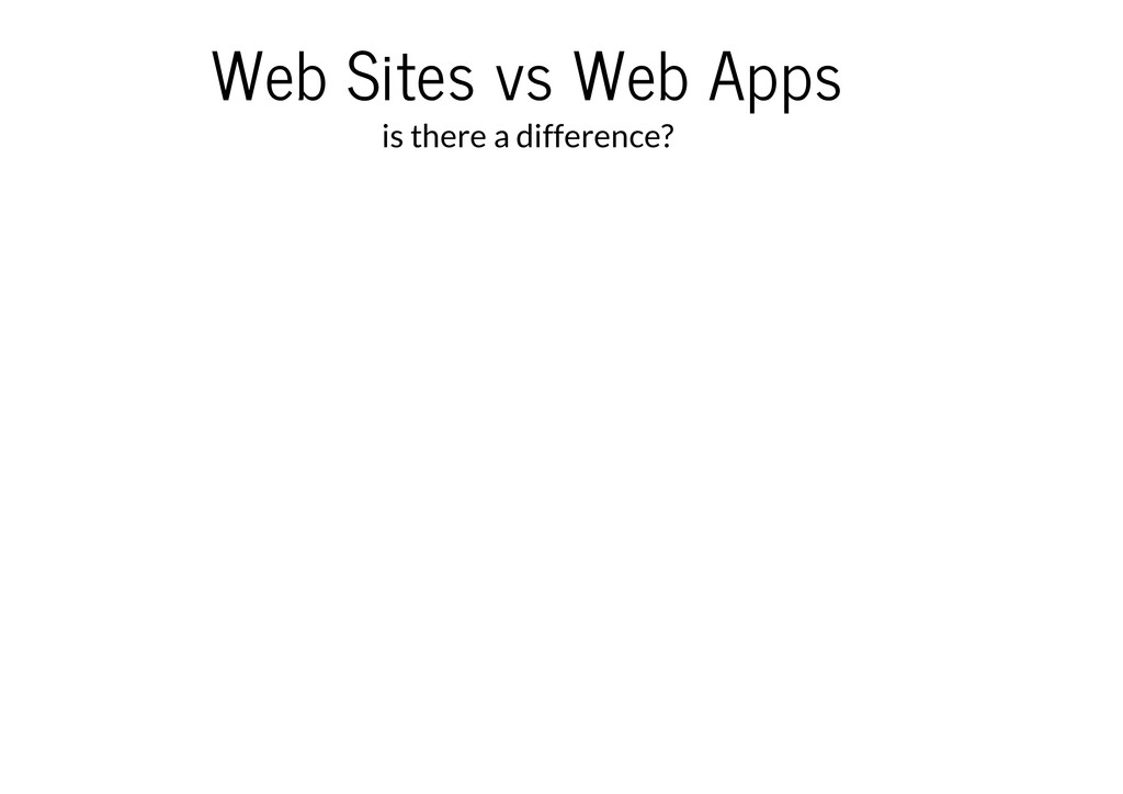 Web Sites vs Web Apps is there a difference?
