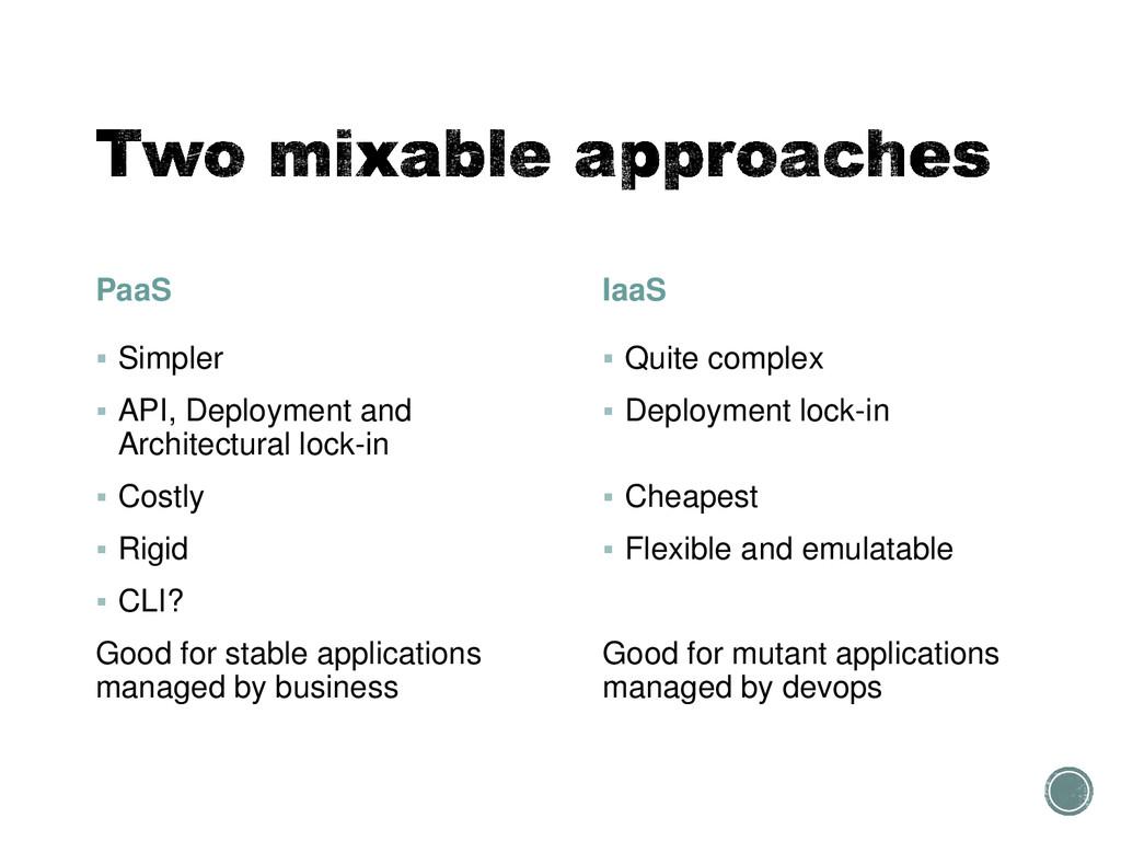 PaaS  Simpler  API, Deployment and Architectu...