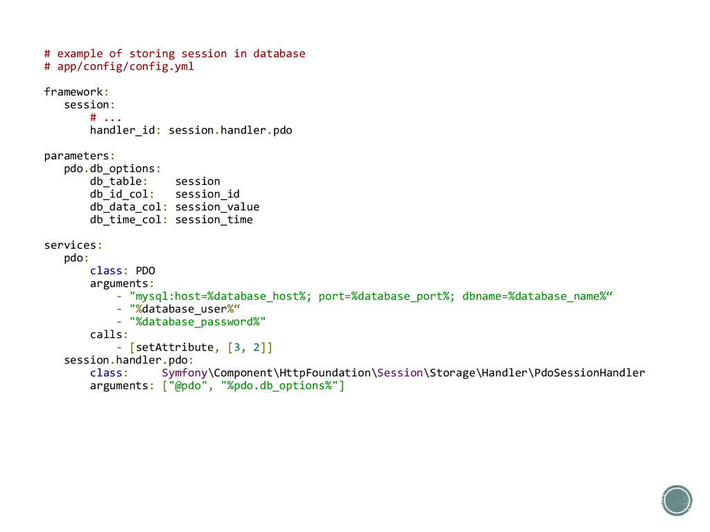 # example of storing session in database # app/...