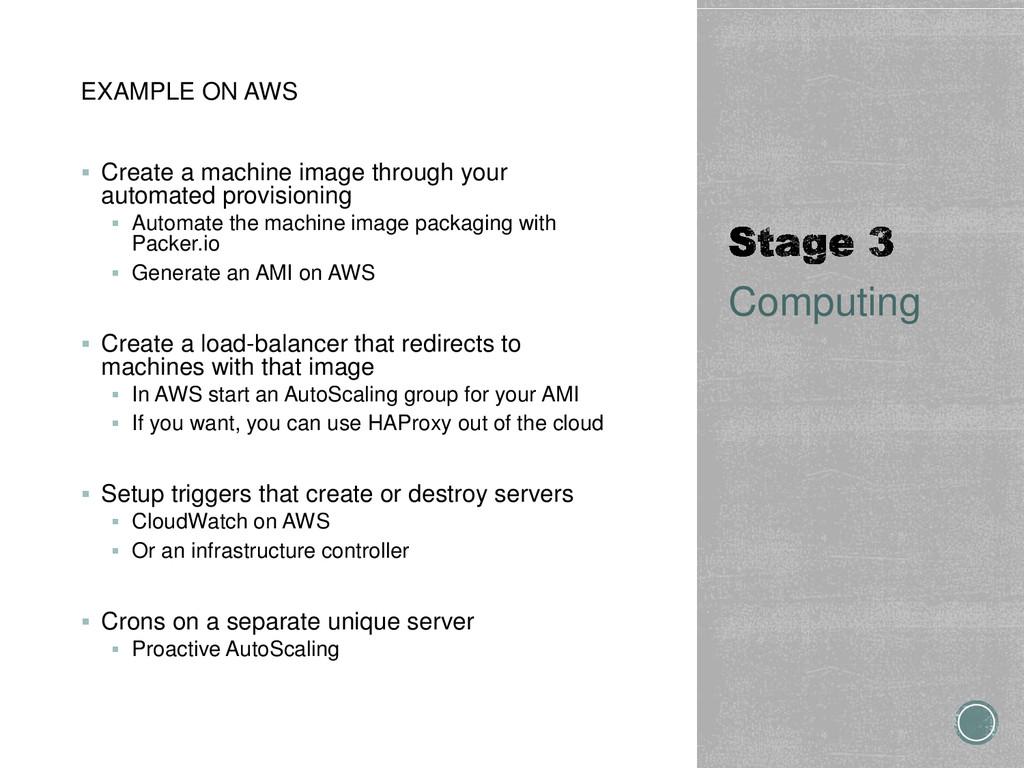 EXAMPLE ON AWS  Create a machine image through...