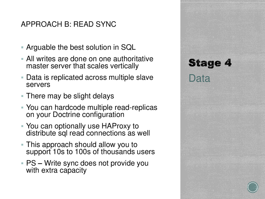 APPROACH B: READ SYNC  Arguable the best solut...