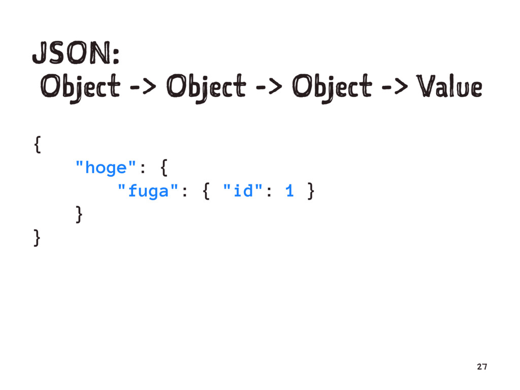 "JSON: Object -> Object -> Object -> Value { ""ho..."