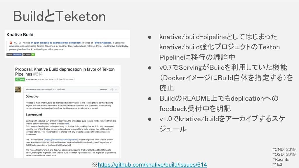 BuildとTeketon ※https://github.com/knative/buil...