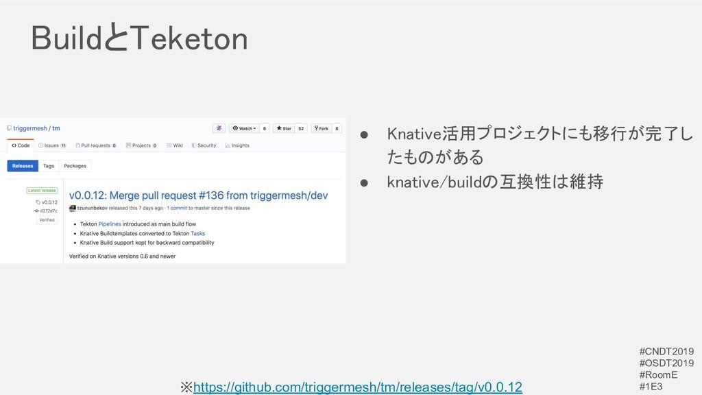 BuildとTeketon ※https://github.com/triggermesh/...