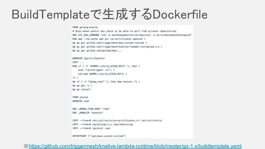 BuildTemplateで生成するDockerfile