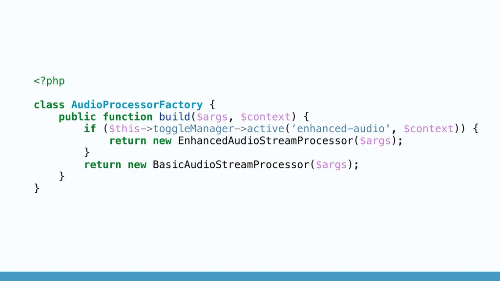 <?php class AudioProcessorFactory { public func...