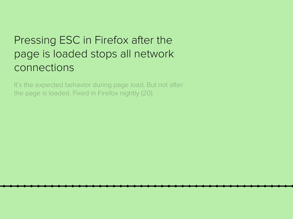 Pressing ESC in Firefox after the page is loade...