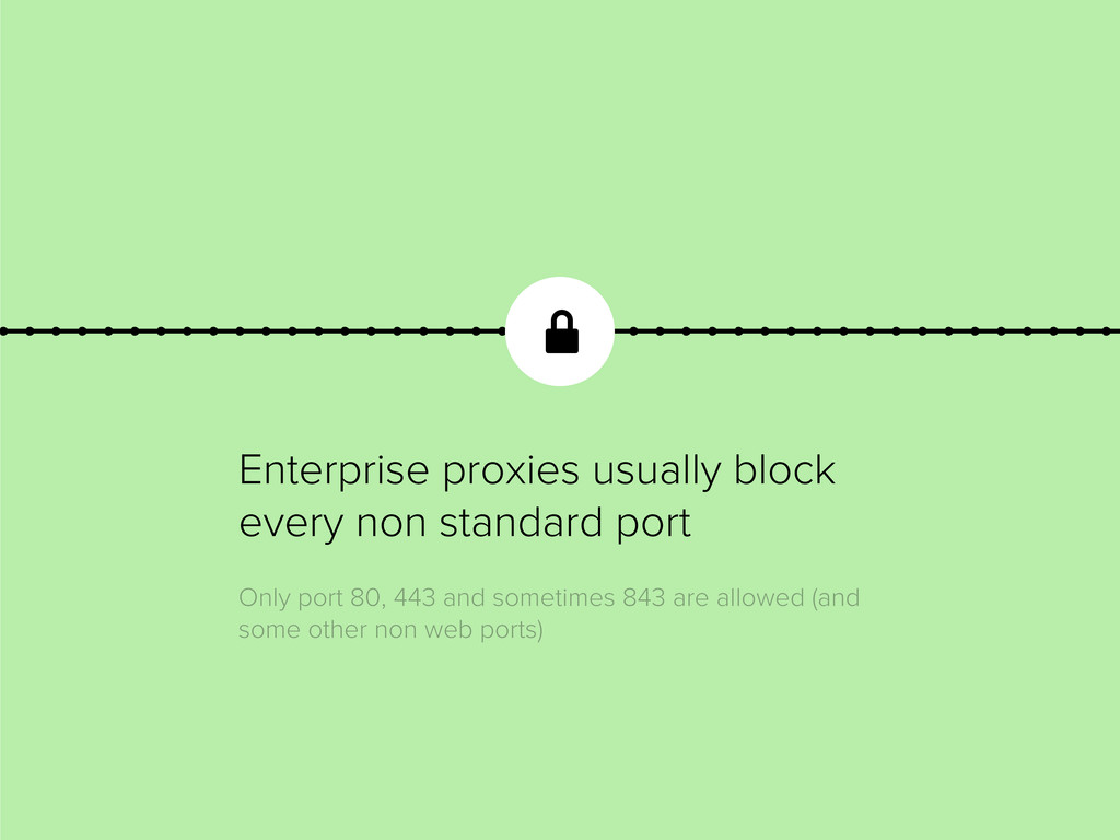 Enterprise proxies usually block every non stan...