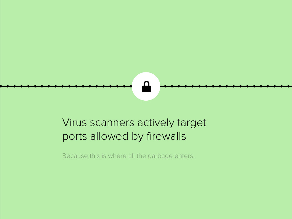 Virus scanners actively target ports allowed by...