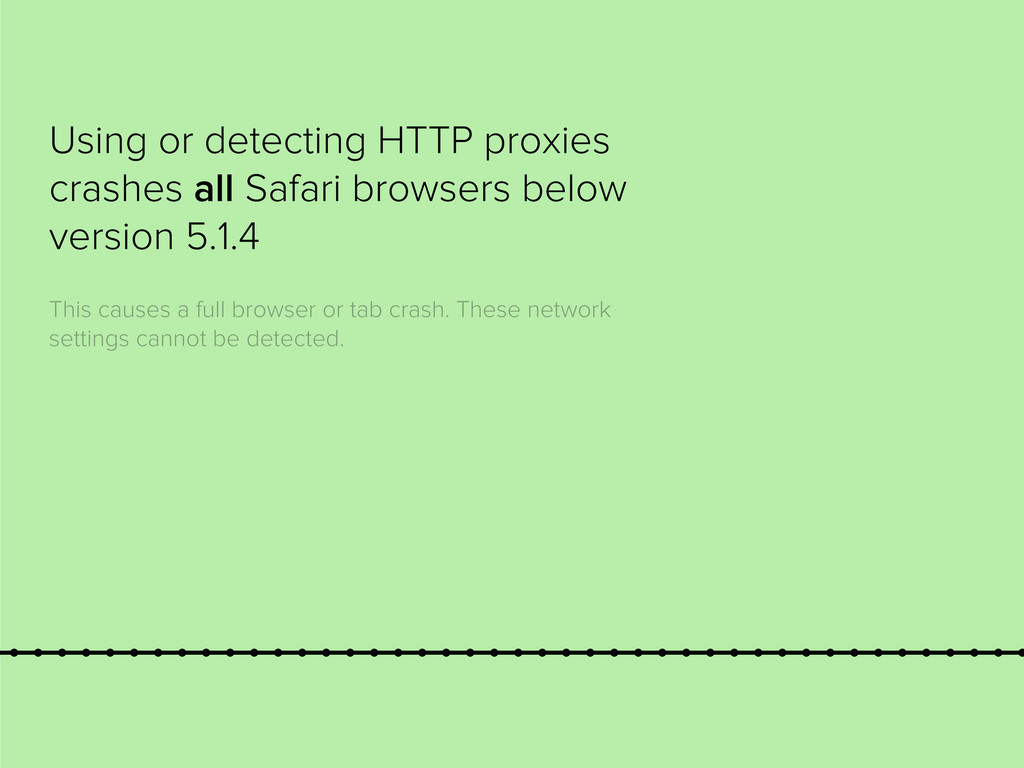 Using or detecting HTTP proxies crashes all Saf...