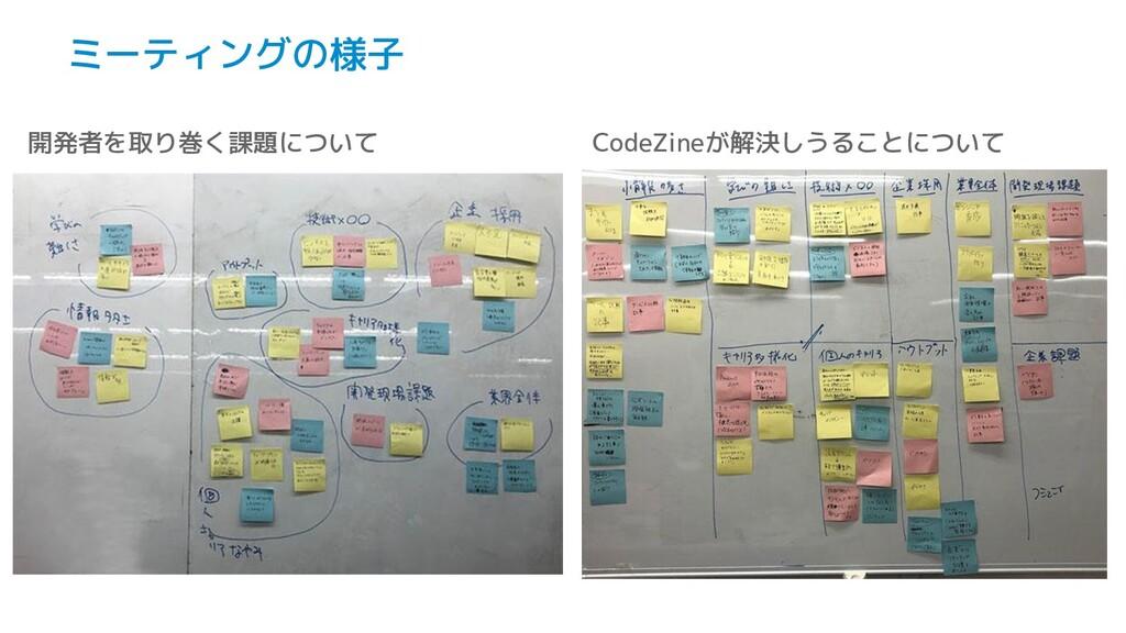 ミーティングの様子 開発者を取り巻く課題について CodeZineが解決しうることについて